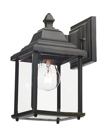 FLDA113 Wall Bracket Lantern Black Gold IP44