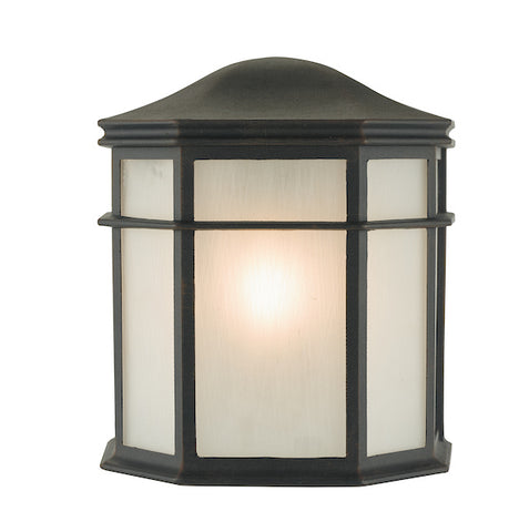 FLDA114 Wall Light Black and Acrylic IP44