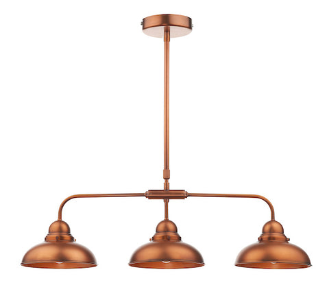 FLDA117-3AC Carter 3 Light Bar Pendant Antique Copper