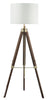 FLDA128-DW Connor Tripod Floor Lamp Dark Wood Base Only