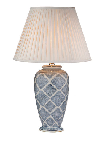 FLDA138-TL Dexter Table Lamp Blue/White Base Only