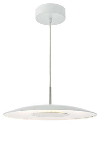 FLDA141-W Dylan Pendant LED White & Stainless Steel