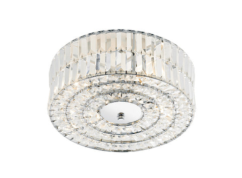 FLDA146 Crystal Semi Flush Fitting Polished Chrome