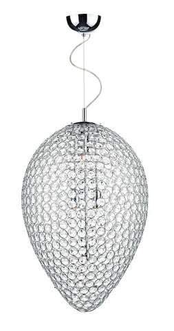FLDA159-5 Eli 5 Light Pendant Polished Chrome