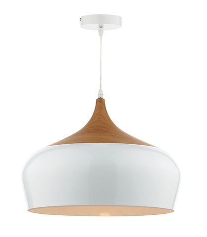 FLDA174-WL Elliott 1 Light Pendant White Large