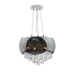 FLDA179 5lt Pendant Smoked & Clear Glass