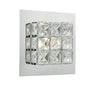 FLDA199-WL Ezra Wall Light LED glass faceted squares Polished Chrome frame
