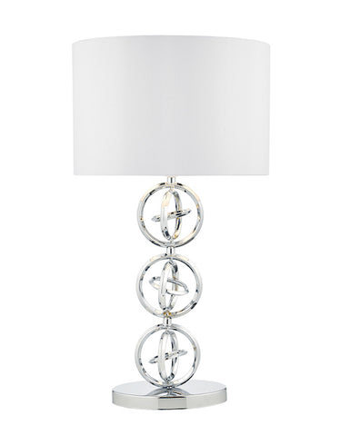 FLDA203-TL Finley Table Lamp Polished Chrome c/w Ivory Shade