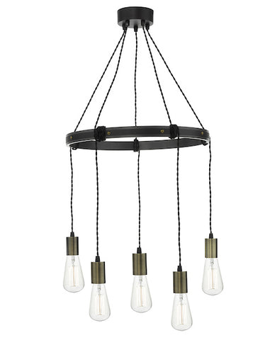 FLDA206 5 Light Pendant Rustic