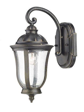 FLDA221 Wall Bracket Lantern Black Gold IP44