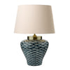 FLDA222 Porcelain Table Lamp base Blue White Fish Motif