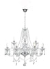 FLDA225-9 Grayson 9 Light Chandelier Polished Chrome Acrylic Glass