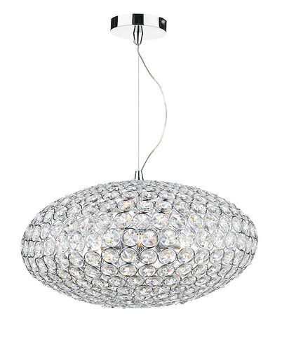 FLDA234-3 Harrison 3 Light Pendant Polished Chrome & Crystal