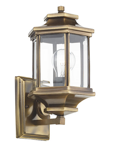 FLDA236 Lantern Antique Brass complete with Bevelled Glass IP44