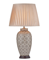 FLDA252 Table Lamp Brown/Cream Base Only