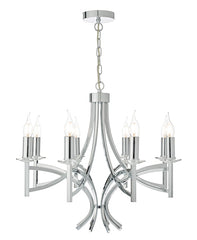 FLDA284-8 Jackson 8lt Pendant Polished Chrome & Crystal