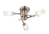 FLDA298-3AB James 3 Light Semi Flush Antique Brass