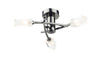FLDA298-3BC James 3 Light Semi Flush Black Chrome
