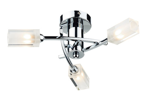 FLDA298-3C James 3 Light Semi Flush Polished Chrome