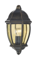 FLDA324 Outdoor Flush Black Gold IP43