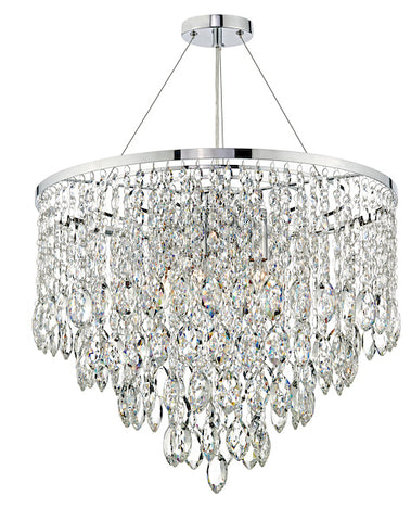 FLDA361 5 Light Round Pendant Decorative Crystal