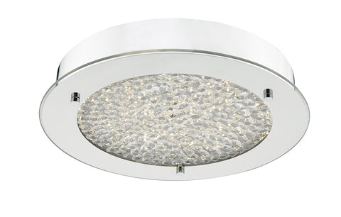 FLDA363 LED Flush Polished Chrome & Crystal Beads IP44