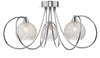 FLDA377-3 Lewis 3 Light Semi Flush Polished Chrome