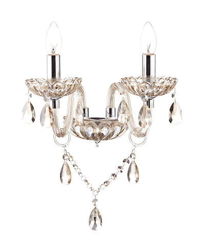 FLDA386-2WL Leon Double Wall Bracket Champagne Crystal