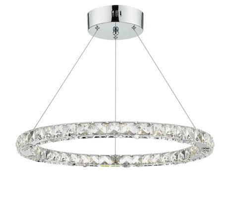 FLDA407-S Louis LED Pendant Crystal with Chrome Dimmable