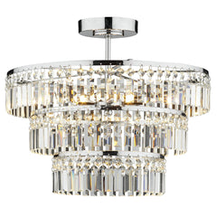 FLDA422 3 Light 3 Tier Semi Flush Polished Chrome