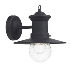 FLDA450-WLBL Luke 1 Light Lantern Black Down Facing IP44