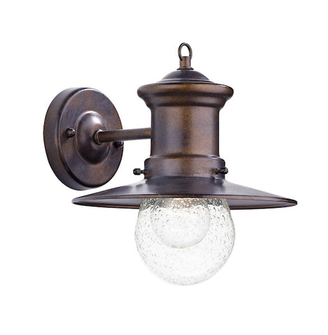 FLDA450-WLB Luke 1 Light Lantern Bronze Down Facing IP44