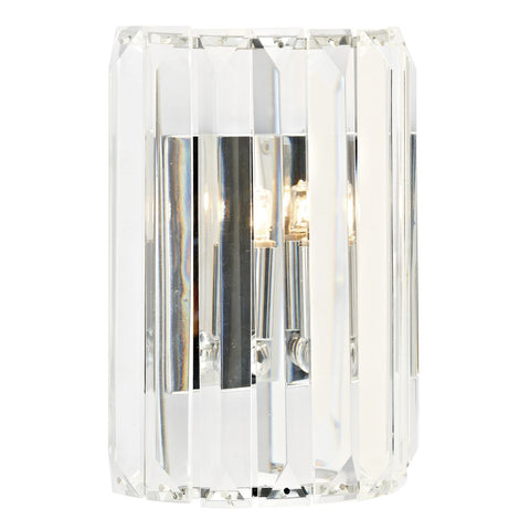 FLDA461 1 Light Crystal Wall Bracket Polished Chrome