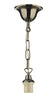 FLDA477 1 Light Single Suspension complete with 50CM Chain Antique Brass