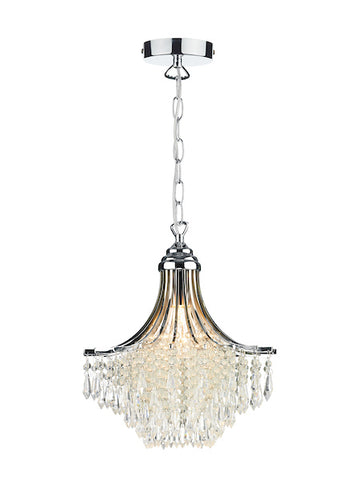 FLDA485-1C Mason 1 Light Pendant Crystal Polished Chrome