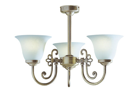 FLDA552-3 Oliver 3 Light Antique complete with Glass