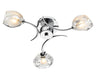 FLDA565-3 Reuben 3 Light Semi Flush Polished Chrome