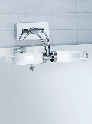 FLF0029-6 Bathroom2Lt Bracket IP44 Chrome