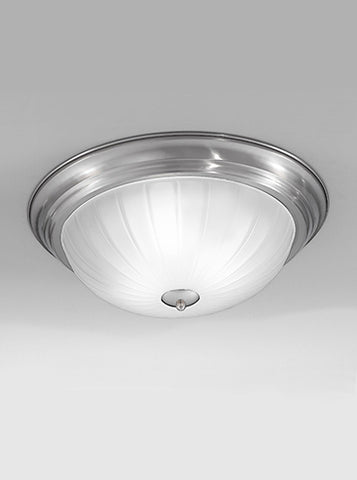 FLF0041 390mm Circular Flush Satin Nickel