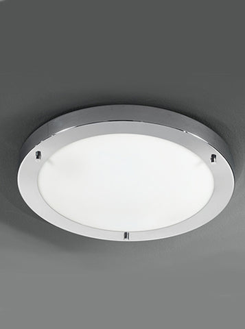 FLF0047 410mm Circular Flush IP44 Chrome