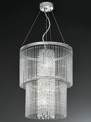 FLF0055-4-450-D Stairwell Ceiling Pendants, Ceiling Statement Pieces, Crystal Ceiling Chandeliers