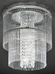 FLF0055-4-450 Semi Flush Ceiling - Crystal