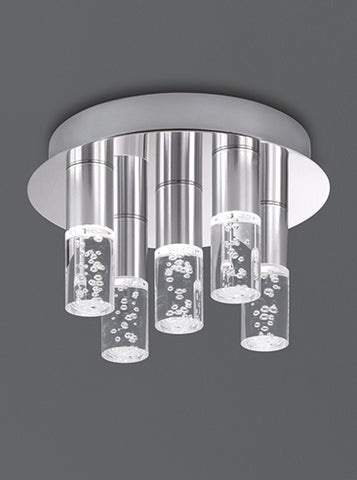 FLF0080 LED X 5 IP44 Flush Fitting Chrome / Satin Nickel