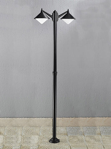 FLF0180 Exterior 2 Light Lampost Black