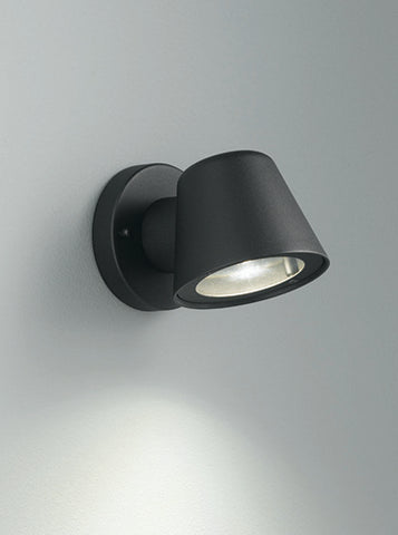 FLF0204 Compact Exterior Wall Light Black