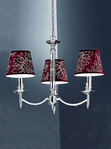 FLF0227-3C Lily 3Lt Fitting Chrome