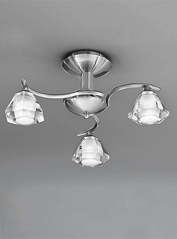 FLF0818-3S Willow 3Lt Fitting Satin Nickel