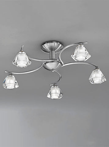 FLF0818-5S Willow 5Lt Fitting Satin Nickel