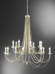 FLF0838-16CR Traditional Ceiling Chandeliers, Ceiling Statement Pieces