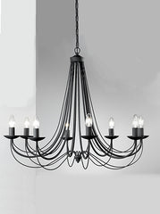 FLF0838-8B Traditional Ceiling Chandeliers, Ceiling Statement Pieces